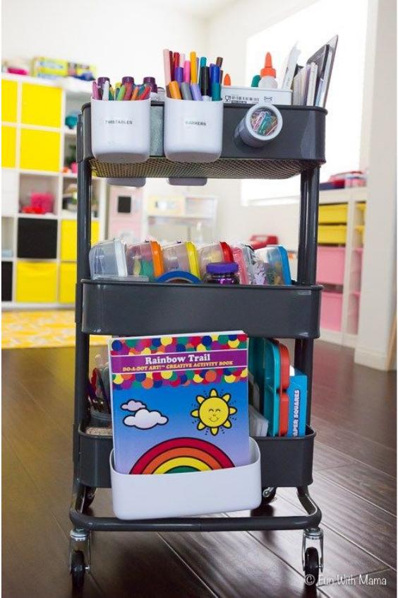 kids art supplies organization ideas