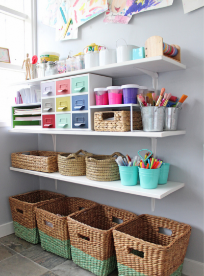 kids art supplies storage