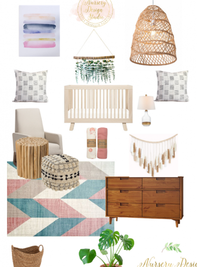 bohemian nursery design board
