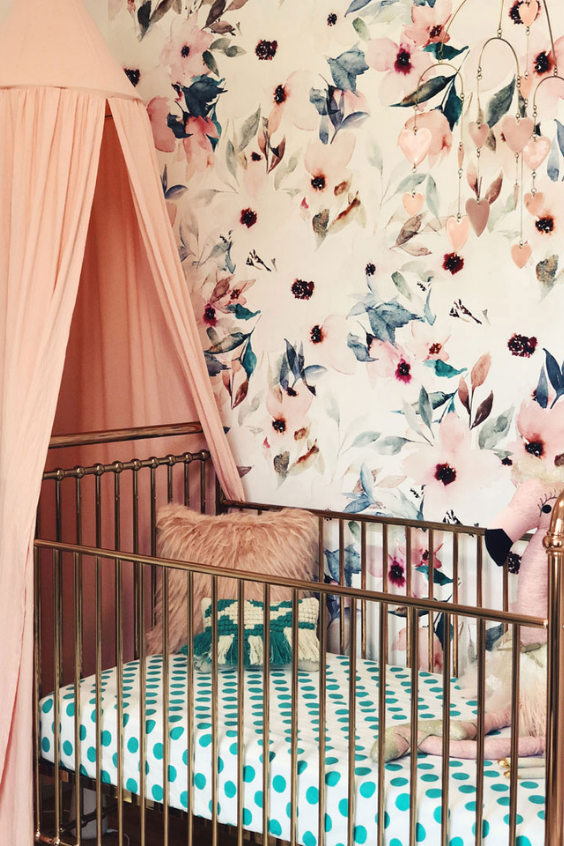 baby girl nursery idea
