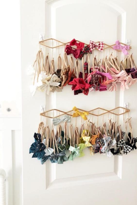 nursery storage hair accessories