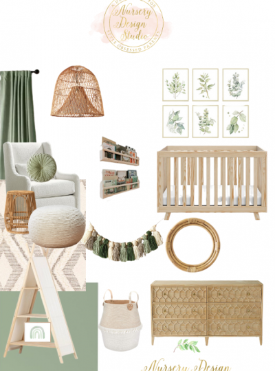 sage green colorblock nursery