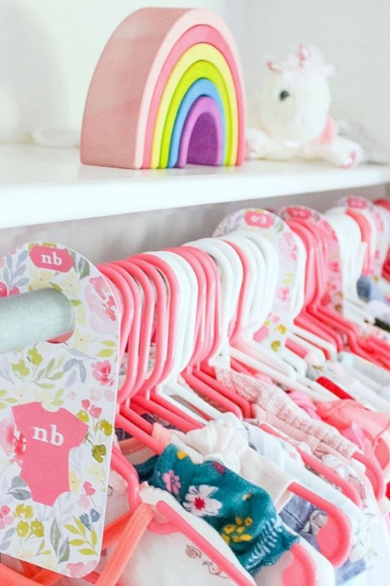 ORGANIZE BBAY'S CLOTHES IN THE NURSERY CLOSET
