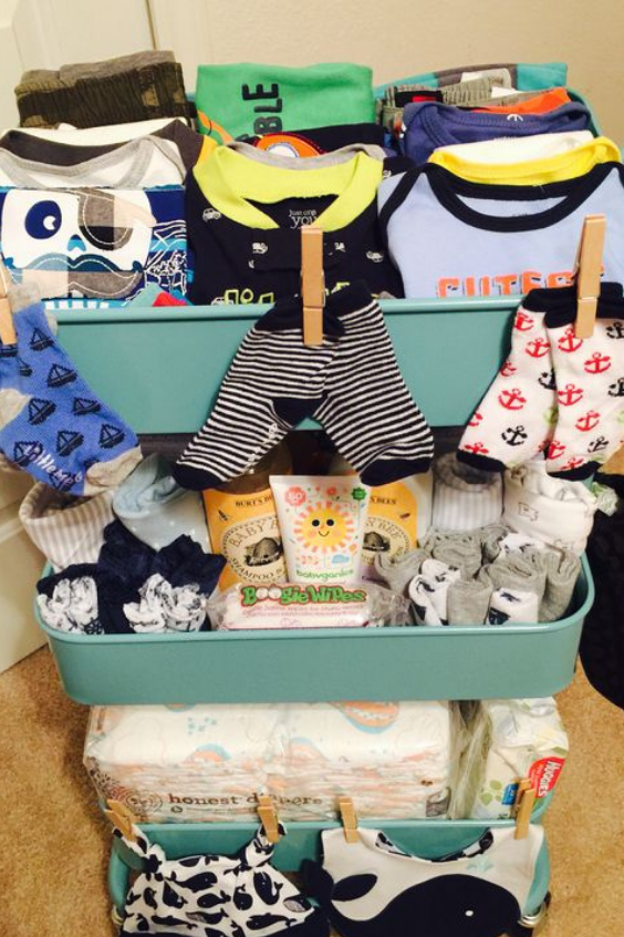 cart to store baby clothes