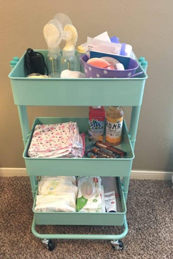 cart to organize the nursery