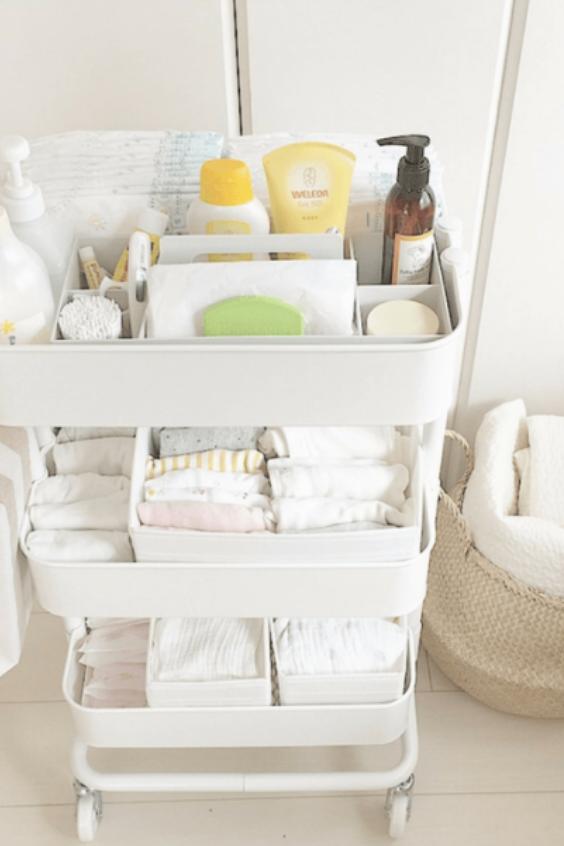cart for nursery storage