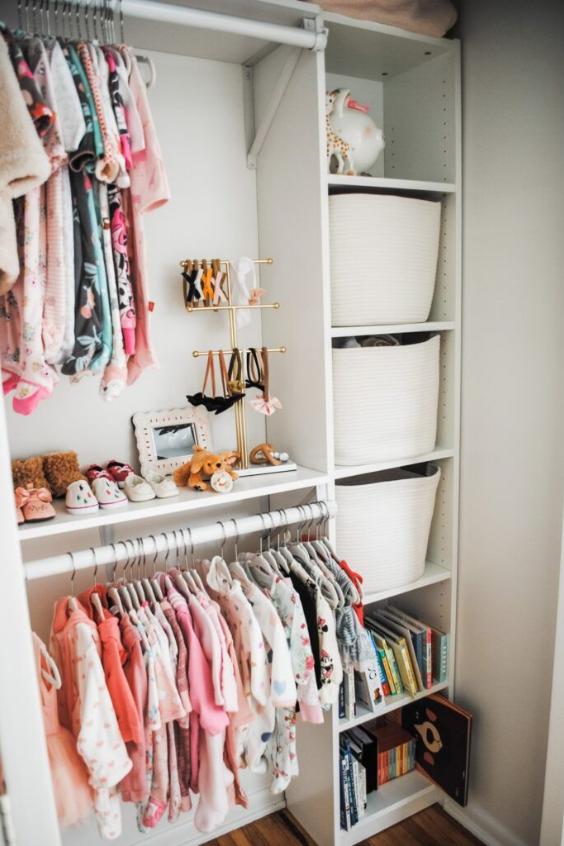 small baby room organization
