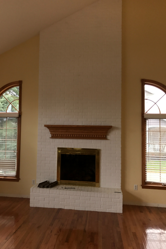 fireplace over