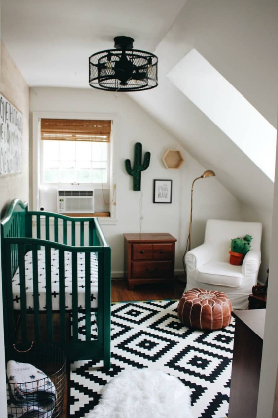 adding green shades in the nursery