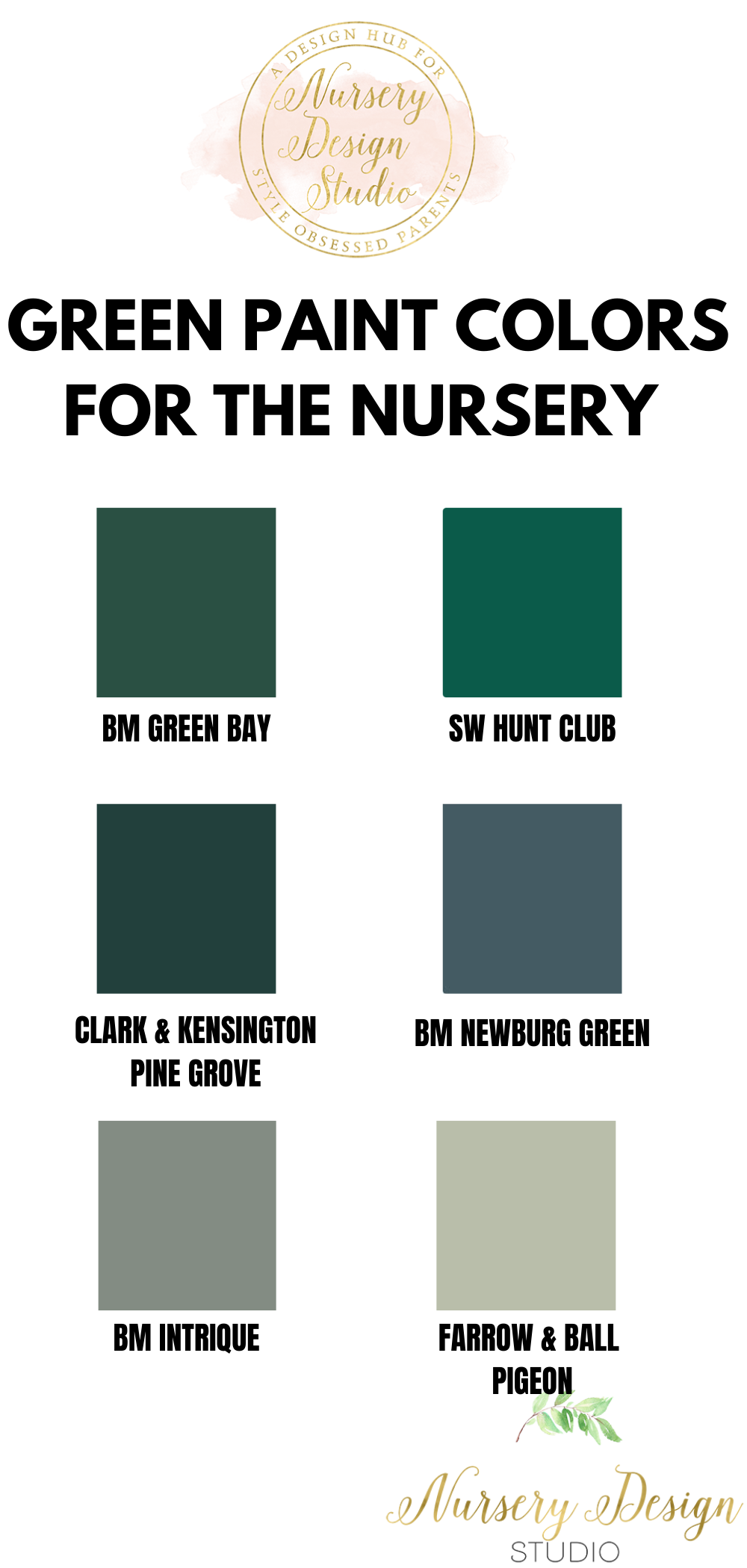 BEST GREEN PAINT COLORS FOR THE NURSERY BABY'S ROOM