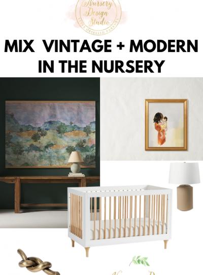 mix vintage into a modern nursery
