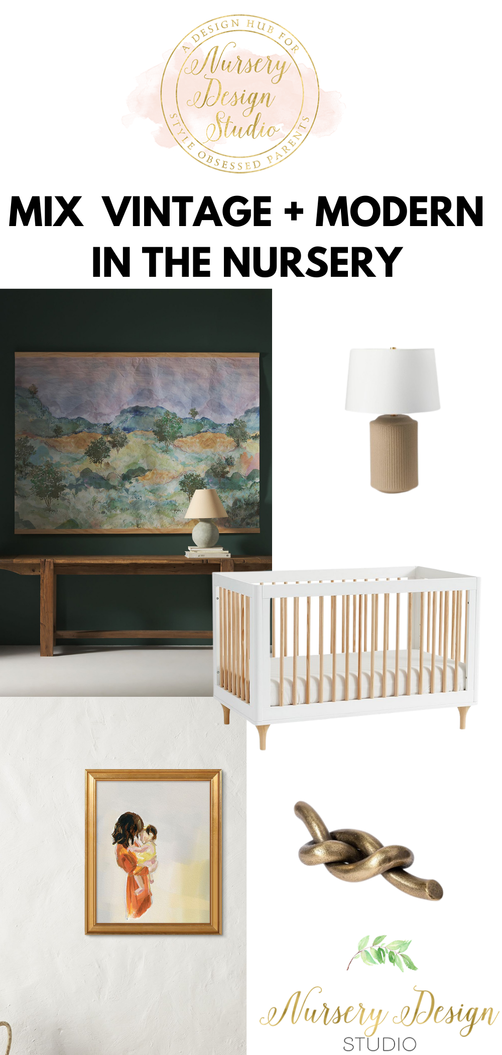 MIXING VINTAGE INTO A MODERN NURSERY