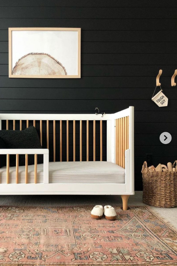 black paint colors for the nursery