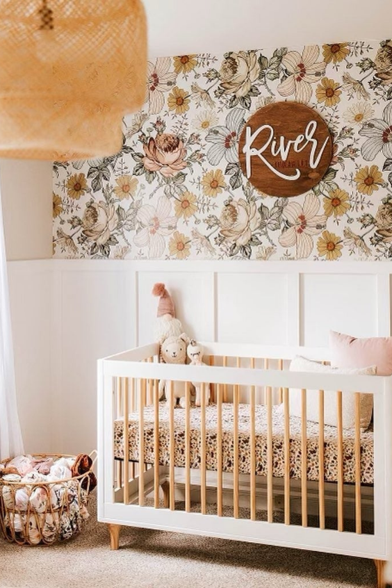 how to mix patterns in the nursery
