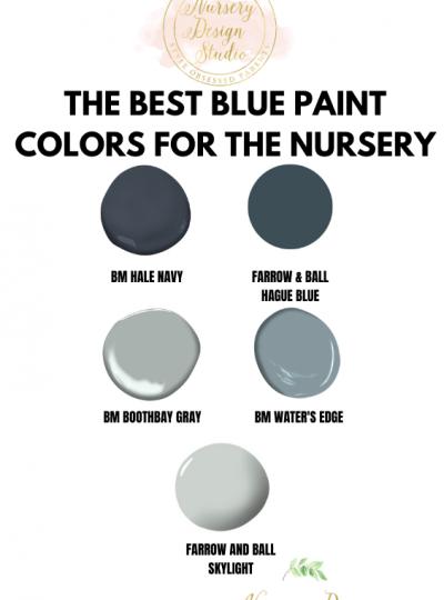 best blue paint colors for the nursery