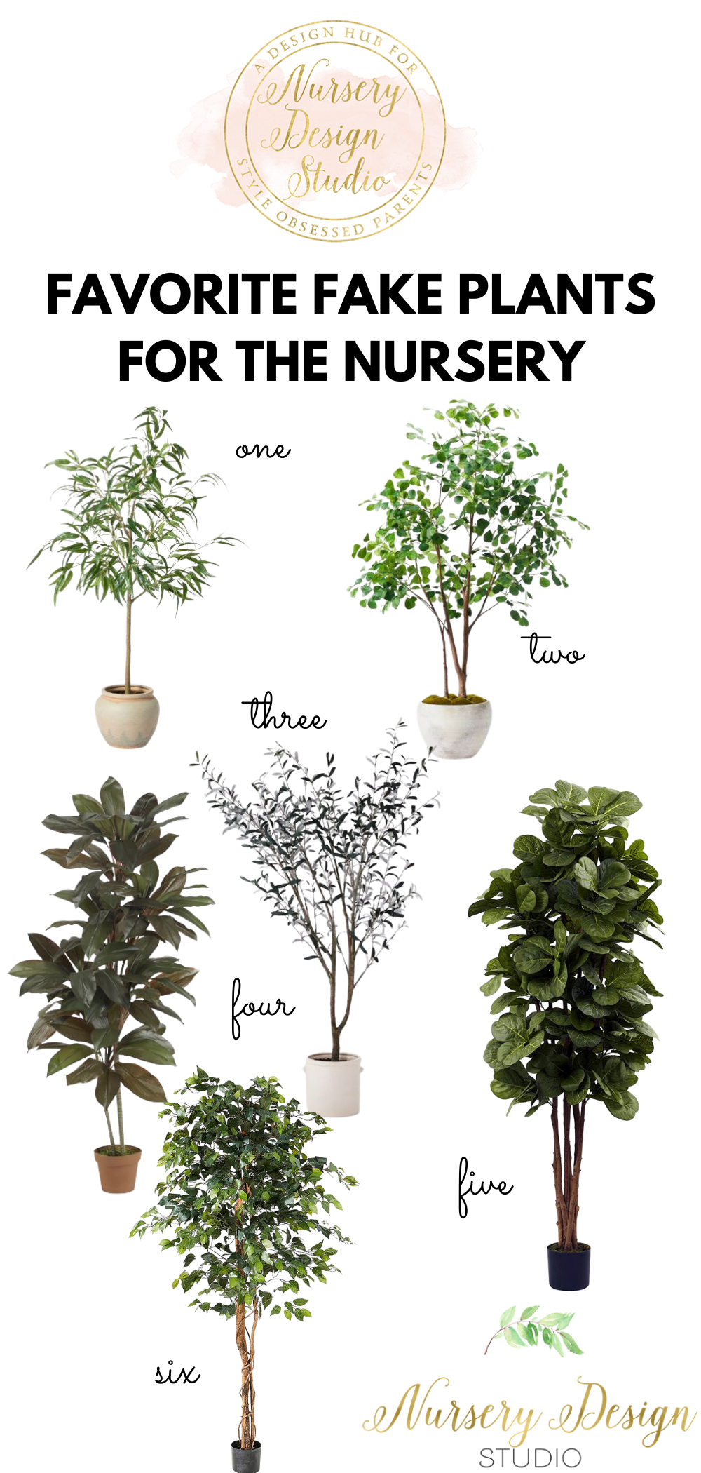 FAKE PLANTS FOR THE BABY NURSERY