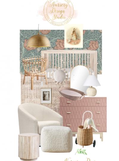 soft and feminine nursery