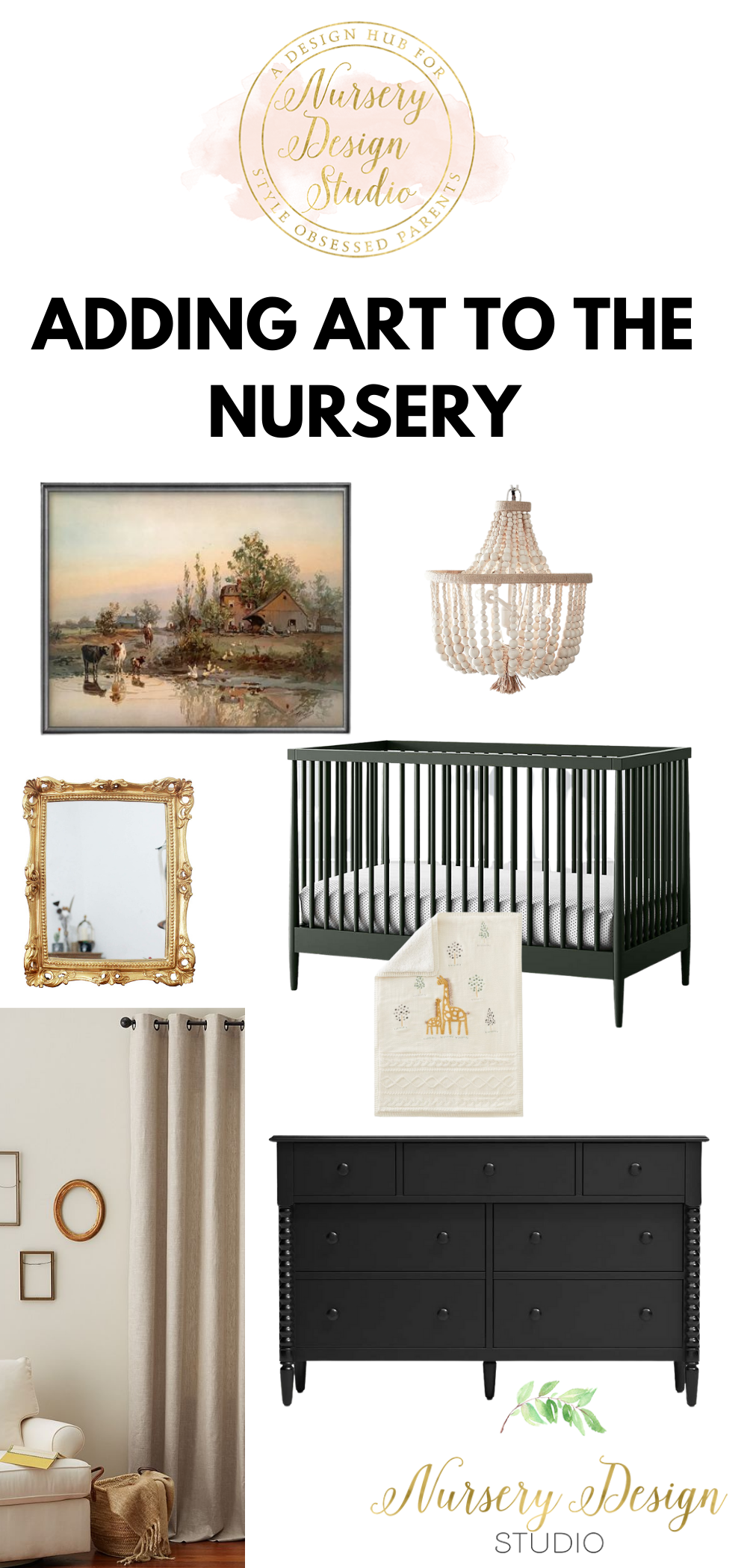 adding art to the nursery walls