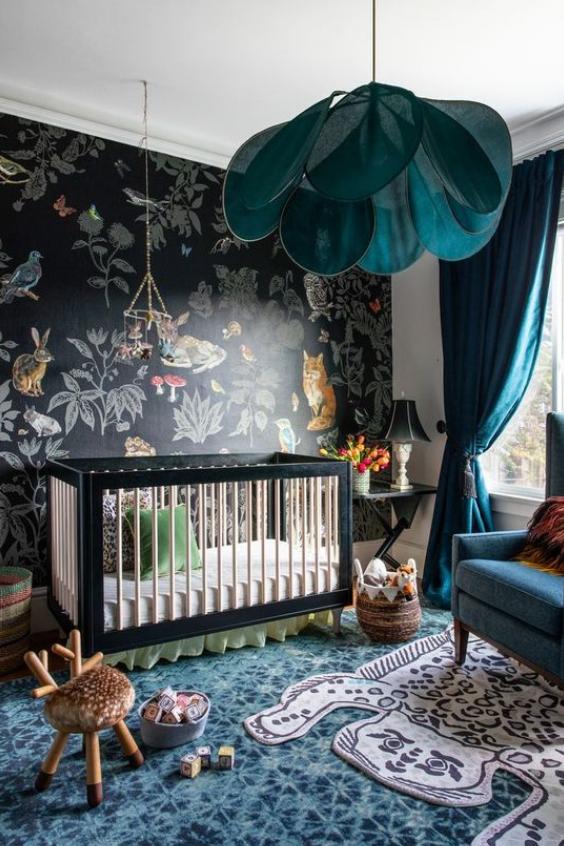 bold and moody nursery